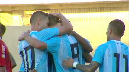 Os gols de CRB 1 x 2 Londrina, pela primeira rodada da Série B do Brasileiro