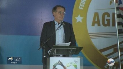 Bolsonaro faz pronunciamento na abertura da Agrishow 2019 em Ribeirão Preto, SP