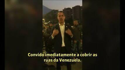 Guaidó convoca venezuelanos para ir às ruas