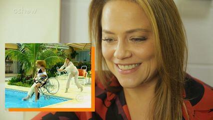 Vivianne Pasmanter revê cena de Eduarda jogando Laura na piscina