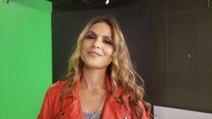 Aline Barros conversa com Gshow nos bastidores do 'Altas Horas'