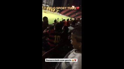 Torcedor do Sport em jogo