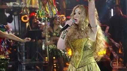 Solange Almeida faz homenagem a Elba Ramalho no Show dos Famosos