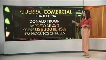 Trump anuncia aumento para 25% sobre produtos chineses