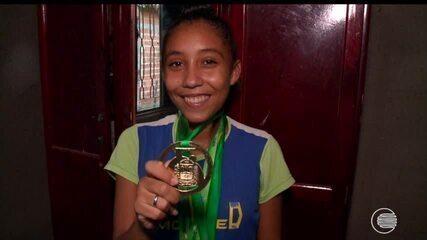 Atleta piauiense fica fora do estadual , mas Globo Esporte vai conferir a história dela