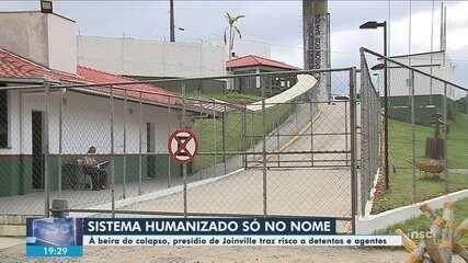 Justiça faz vistoria no Presídio de Joinville; veja situação