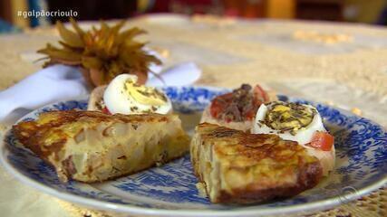 Cadica Costa prepara Tortilla de Charque no Cozinha de Galpão