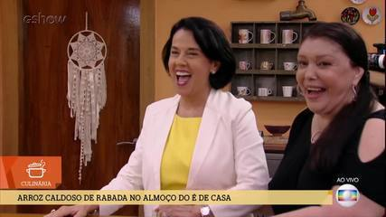 André Marques e Ana Furtado são surpreendidos por suas mães durante o programa