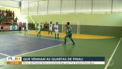 Paulo de Frontin fecha a primeira fase com vitória sobre Porto Real: 7 a 3