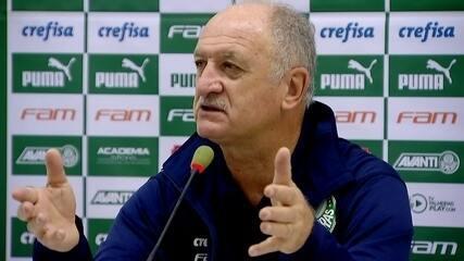 Veja a entrevista coletiva de Felipão após goleada do Palmeiras sobre o Santos