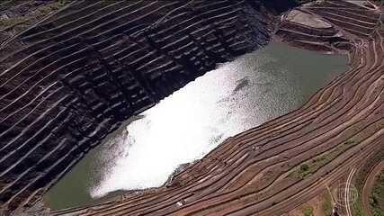 Talude de mina em Barão de Cocais (MG) pode se romper ainda nesta semana