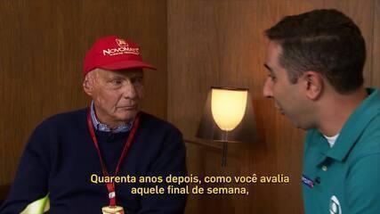 Niki Lauda fala sobre acidente sofrido em 1976