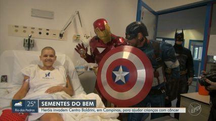 'Super-heróis' visitam crianças com câncer em Campinas