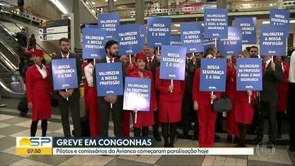 Pilotos e comissários da Avianca entram em greve