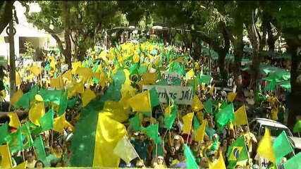 Belém tem manifestação em apoio a Bolsonaro e às reformas do governo