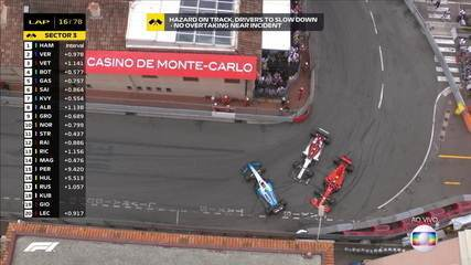 Lambança generalizada em Mônaco! Pilotos se atrapalham em curva e fecham a pista