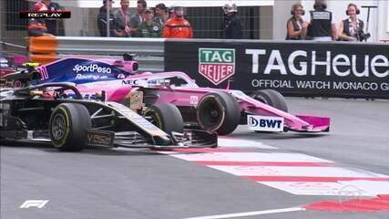 Perez e Magnussen se envolvem em disputa complicada de posição