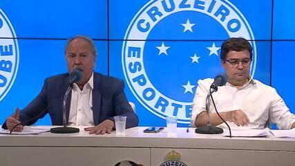 Dirigentes do Cruzeiro concedem entrevista coletiva para esclarecer denúncias de irregularidades na conduta da diretoria