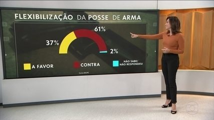 Maioria dos brasileiros é contra flexibilização de posse de armas de fogo, diz Ibope