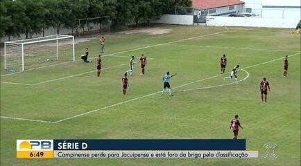 Assista aos gols da vitória do Jacuipense por 2 a 0 diante do Campinense