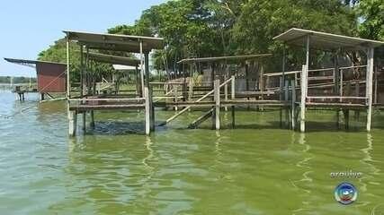 Rio Tietê amanhece verde em cidades da região noroeste paulista