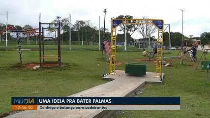 Londrinense cria balanço adaptado para cadeirantes na praça Nishinomya