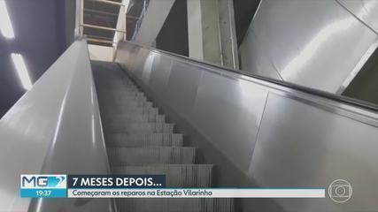 Sete meses depois, começam os reparos na Estação Vilarinho, em Venda Nova