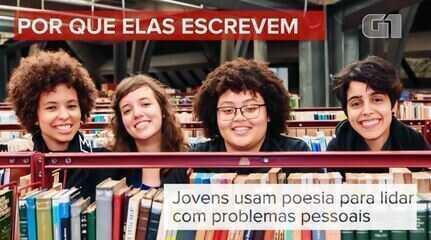 Jovens usam poesia para lidar com problemas pessoais e questões sociais
