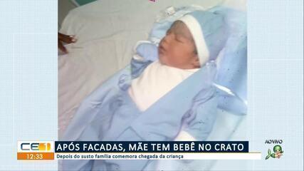 Após facadas, mãe tem bebê no Crato