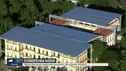 Museu Nacional recebe cobertura provisória