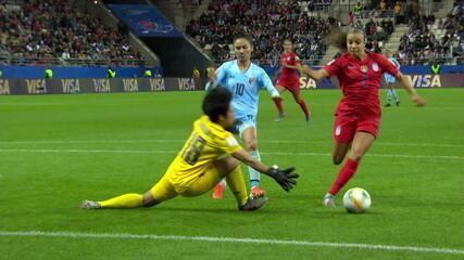 Melhores momentos: Estados Unidos 13 x 0 Tailândia pela Copa do Mundo de futebol feminino