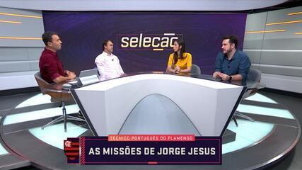 Comentaristas debatem as missões de Jorge Jesus no comando do Flamengo