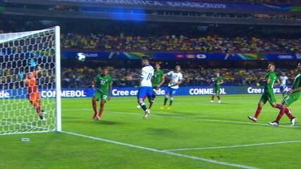 Os gols de Brasil 3 x 0 Bolívia pela Copa América 2019