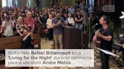 Missa de 7º dia de Andre Matos é celebrada com rock na Igreja da Consolação