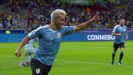 Confira golaço de Lodeiro pelo Uruguai na Copa América
