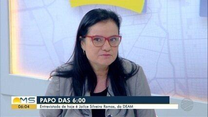Joilce Ramos, delegada da Mulher, é a entrevistada do Papo das 6 desta quarta-feira (19)