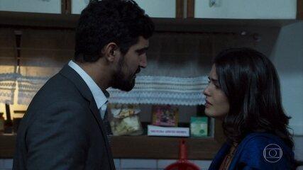 Laila e Jamil discutem por causa de Dalila/Basma