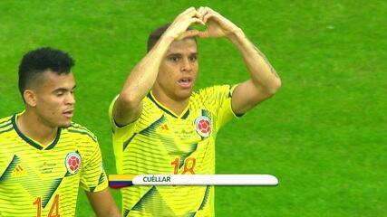 Cuéllar aproveitou chance no time reserva da Colômbia e marcou gol do jogo
