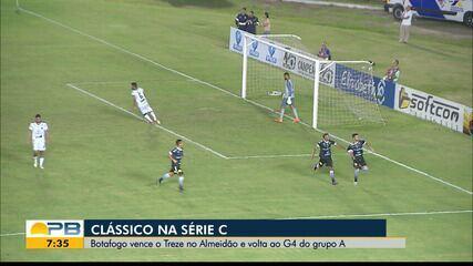 Botafogo-PB vence o Treze por 4 a 2 e sobe uma posição no G-4 da Série C