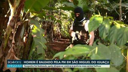 Homem é baleado pela PC em São Miguel do Iguaçu
