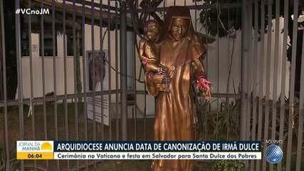 Arquidiocese anuncia a data de canonização de Irmã Dulce