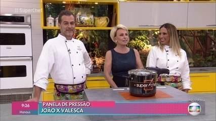 Valesca Popozuda e João Vitti disputam a panela de pressão