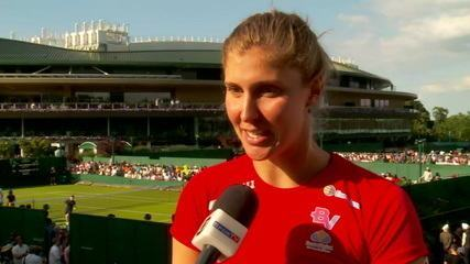 Bia Haddad comemora vitória em Wimbledon