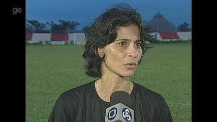 Veja imagens da época em que Cláudia Malheiro trabalhava no futebol acreano