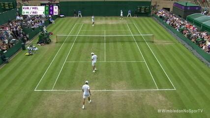 Match point de Marcelo Melo e Lukasz Kubot na 2ª rodada de Wimbledon