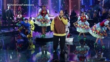 Ludmilla homenageia Ed Motta no Show dos Famosos