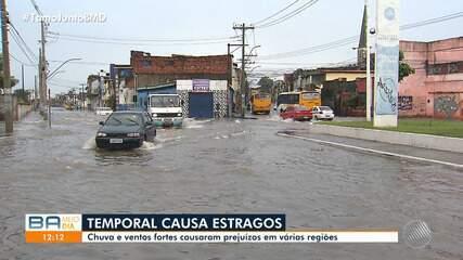 Frente fria traz chuva e vento para Salvador e cidades do interior baiano