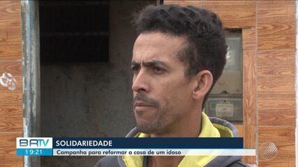 Gari faz campanha para ajudar idoso a reformar casa em Vitória da Conquista