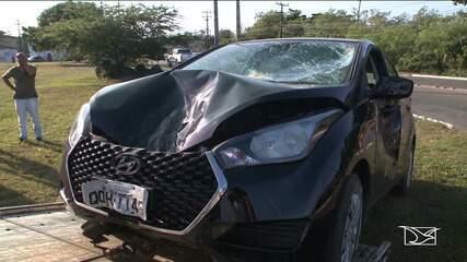Após assalto a residência, vítima persegue dupla e suspeita morre em colisão em São Luís