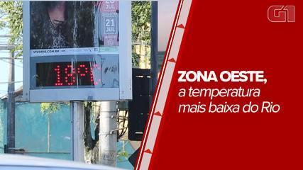 Zona Oeste registra temperaturas mais baixas do inverno carioca